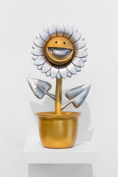 Ron English, 'YoHo Flower Grin Gold', 2018