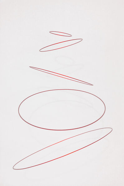 Elias Crespin, 'Circuconcéntricos Alu Rouge-50', 2018