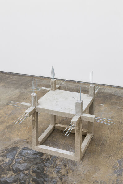 Felipe Arturo, 'Unfinished concrete chair #2', 2015