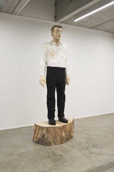 Stephan Balkenhol, 'Grosser Mann schwarz-weiss', 2017