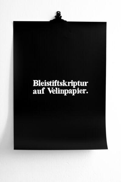 Martina della Valle, 'Bleistiftskriptur auf Velinpapier ('scrittura a matita su carta velina')', 2013