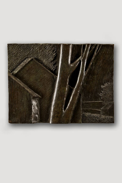 Robert Kipniss, 'Bronze Bas Relief (Large Landscape)', Exact date of work unknown, estimated circa 1970, 1975.