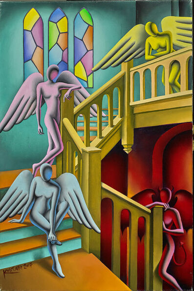 Mark Kostabi, 'I'll Accept You As Soon As I Get Off Work', 2017