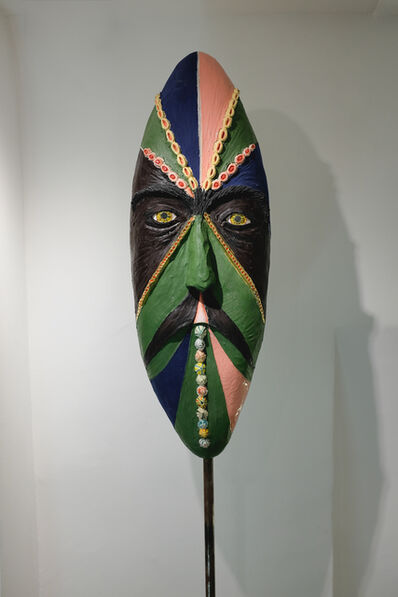 Agathe Brahami-Ferron, 'Green african mask', 2018