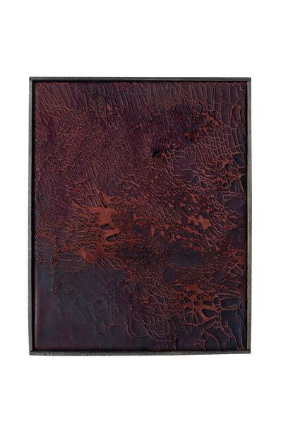 Anneliese Schrenk, 'Ohne Titel (kleine Malerei, rot, aufgebrochen) '