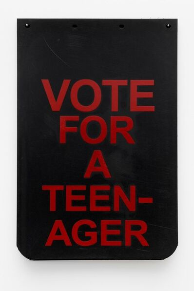 "Cary Leibowitz (""Candy Ass""), 'Vote For A Teenager (Red)', 2019"