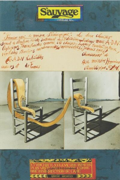 Salvador Dalí, 'Premier essai de maison stéréoscopique, projet de couverture pour la revue 'Le Sauvage'', 1976