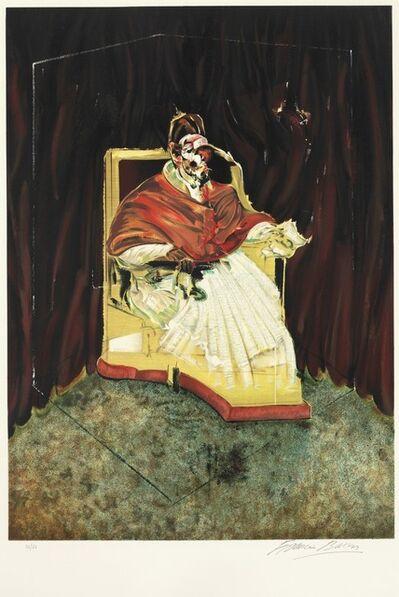 Francis Bacon, 'Etude pour un portrait de Pape Innocent X d'après Vélasquez', 1989