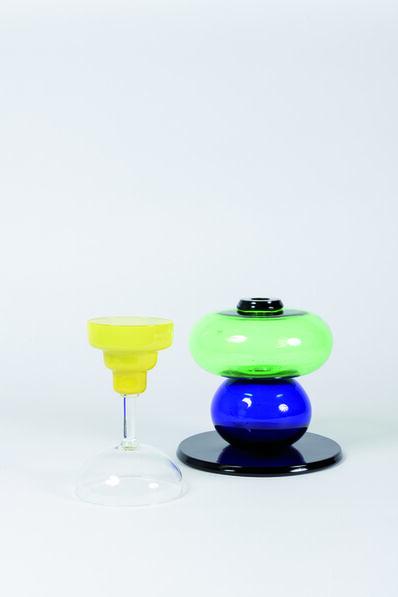 """Ettore Sottsass, '""""Diodata"""" vase in Murano glass', 1974"""
