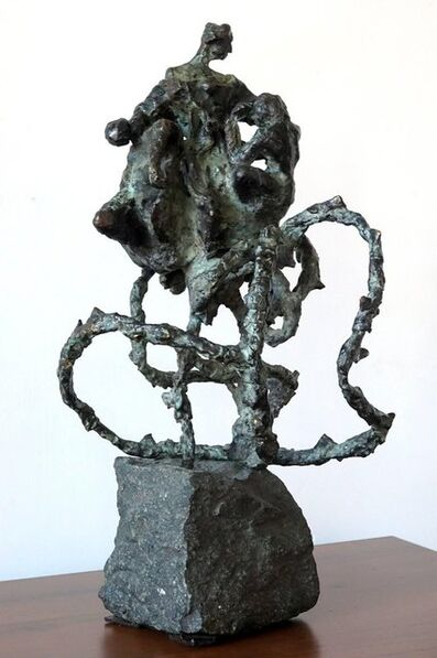 "Dominik Albinski, 'Polish-South African Modernist Bronze ""The Rose"" Expressionist Sculpture', 2000-2009"