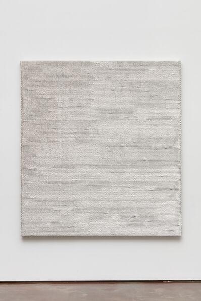 Analia Saban, 'Woven Diagonal Gradient as Weft (Top-left Corner to Bottom-right Corner, White)', 2019
