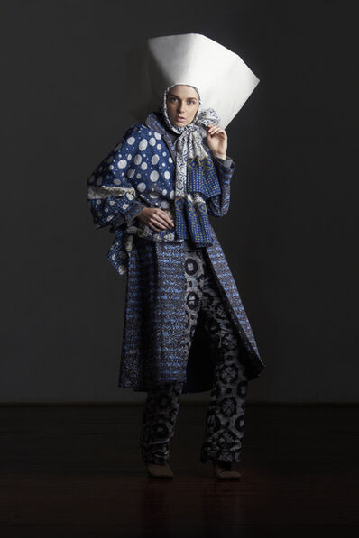 Windri Widiesta Dhari for NurZahra, 'Indonesia) Ensemble (top, jacket, scarf, pants, headscarf, and hat)', 2014