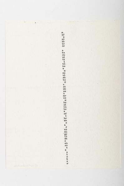 Carl Andre, 'M', 1958