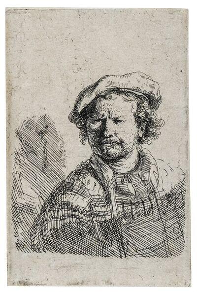 Rembrandt van Rijn, 'Self-Portrait in a Flat Cap and Embroidered Dress', 1642