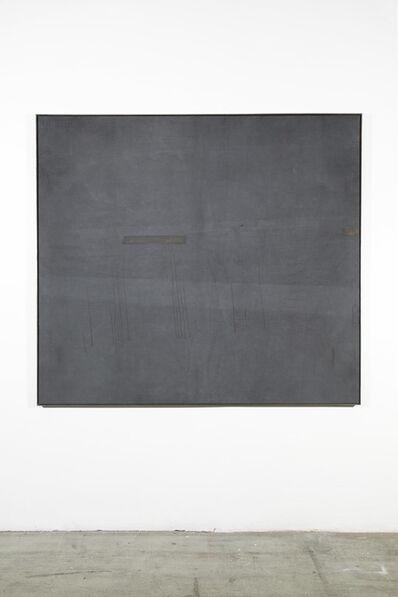 Anneliese Schrenk, 'Ausstoßhaut (große graue Malerei)', 2017