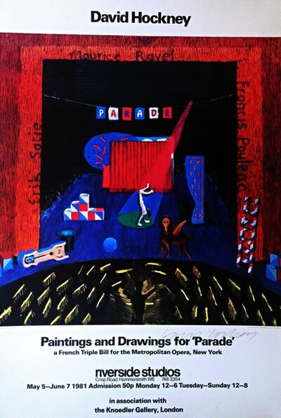 David Hockney, 'Paintings and Drawings for Parade - Metropolitan Museum (Hand Signed)', 1981