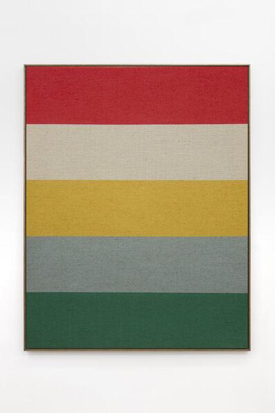 Antonio Ballester Moreno, 'Verde, gris, amarillo, yute y rojo', 2020
