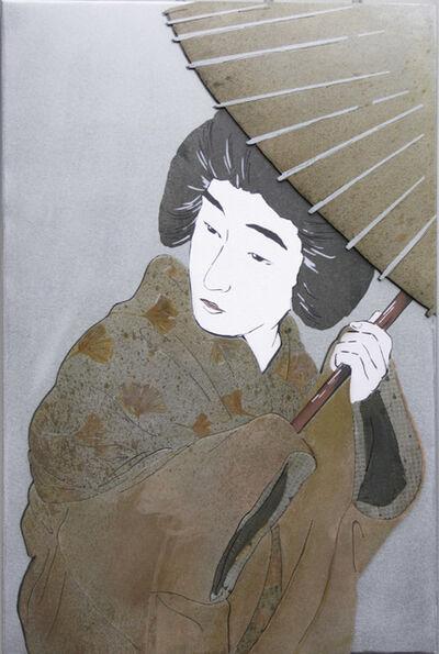 Ken Girardini, 'Woman with Umbrella, White Face', 2013