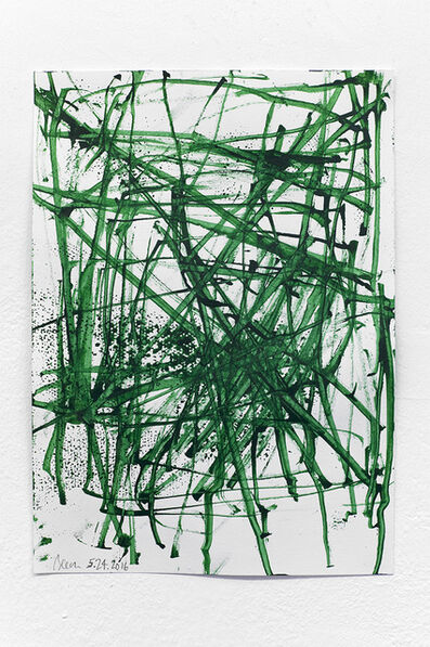 John Beech, 'Green Series Drawings/Basel #1', 2016