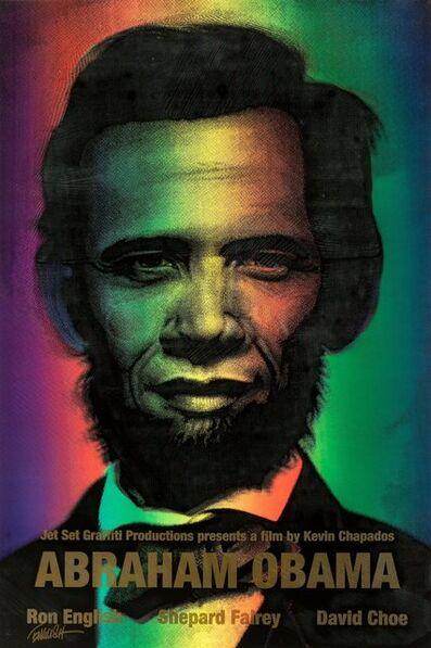 Ron English, 'Abraham Obama (Gold Lettering)', 2009