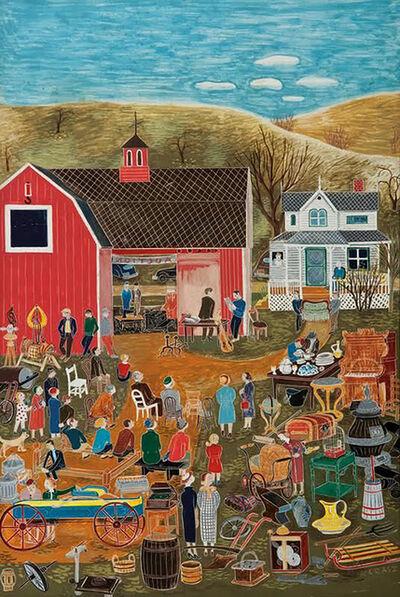 Ilonka Karasz, 'Country Auction, The New Yorker Magazine Cover', 1953