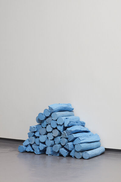 Rowan Smith, 'Untitled (Log Stack in Swimming Pool Blue', 2018