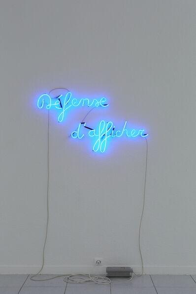 Lieven De Boeck, 'Défense d'afficher', 2014