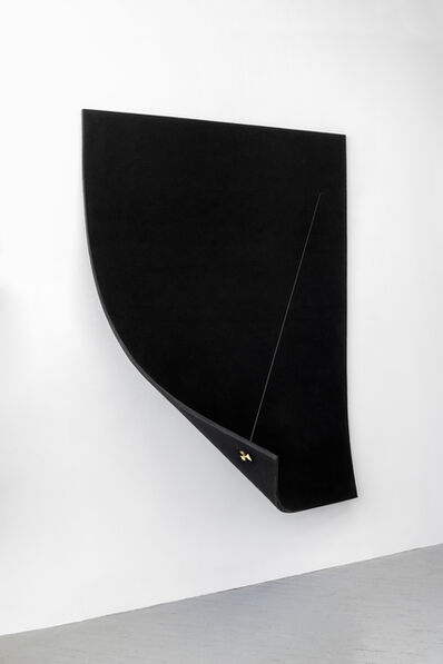 Naama Tsabar, 'Work On Felt (Variation 9) Black', 2016