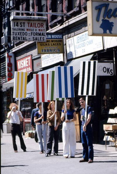 Daniel Buren, 'Photo-souvenir : Seven ballets in Manhattan, travail in situ, New York, 27 mai/2 juin 1975. Détail.', 1975