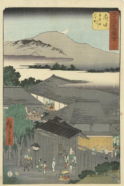 Utagawa Hiroshige (Andō Hiroshige), 'Fuchu', 1855