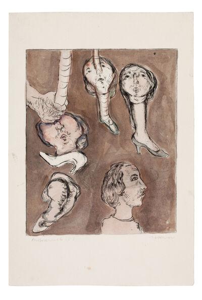 Marwan (Marwan Kassab-Bachi), 'Grotesque figures', 1969