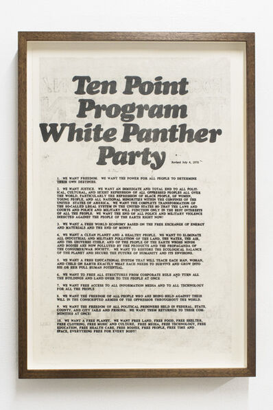Hong-An Truong, 'We want freedom [White Panther Party Ten Point Program]', 2018