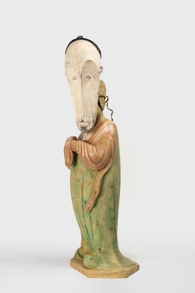 XU ZHEN®, 'Evolution – Tang Dynasty Painted Fighure Court Lady, Fang Ngil Ceremonial Mask', 2016