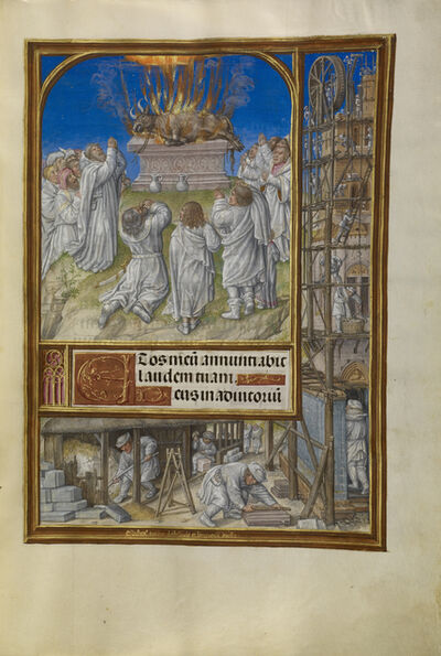 Master of James IV of Scotland, 'Elijah Begging for Fire from Heaven', 1510-1520