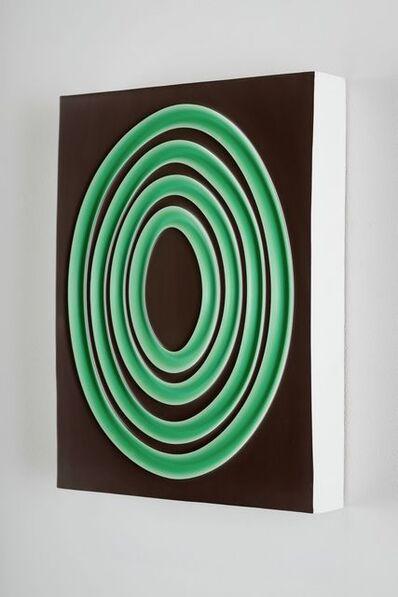 Jeremy Hof, 'Green Rings on Brown', 2016