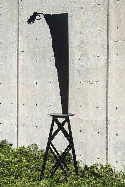 Charles Pachter, 'Moose Plunge (large) - tall, playful, pop art, Canadian, aluminum sculpture', 2020