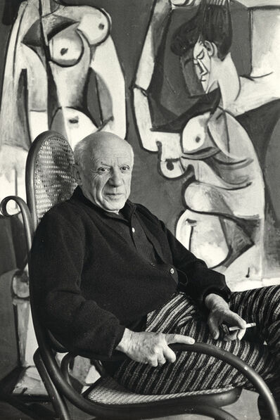 David Douglas Duncan, 'Picasso in rocking chair', 1957