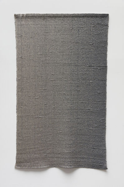 Analia Saban, 'Woven Vertical Linear Gradient as Weft (Left to Right, Gray)', 2019