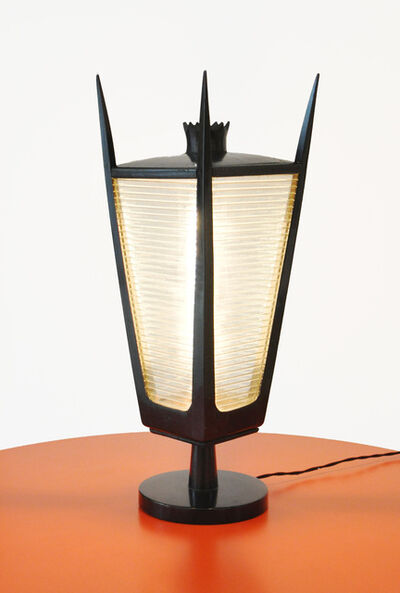 Gino Sarfatti, 'Table lamp in black lacquered wood', ca. 1940