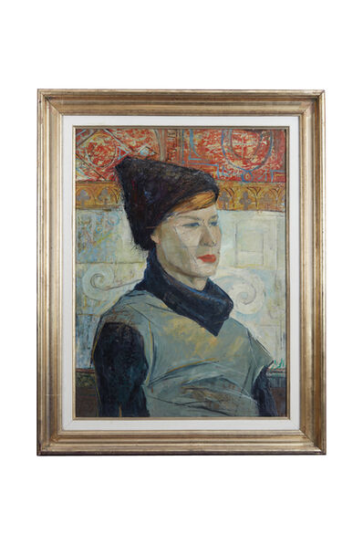 Abdul Hadi El-Gazzar, 'Portrait of an Italian Woman', 1960