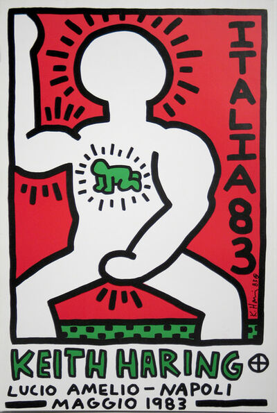 Keith Haring, 'Italia 1983 (Lucio Amelio, Napoli Maggio 1983) Exhibition Announcement', 1983
