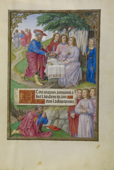 Master of James IV of Scotland, 'Abraham and the Three Angels', 1510-1520
