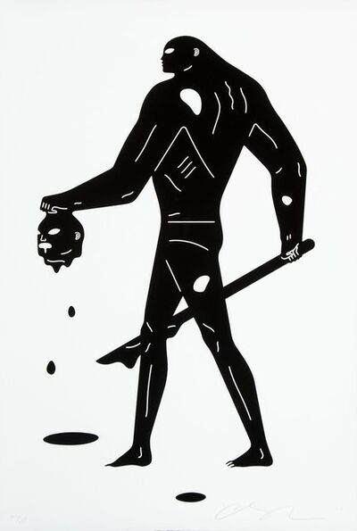 Cleon Peterson, 'Headless Man (Black and White)', 2019
