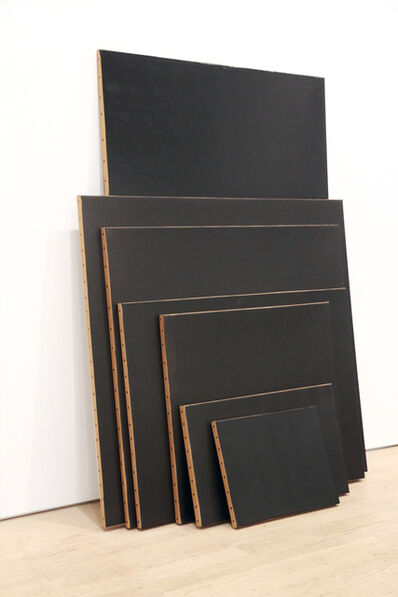 Tom Burckhardt, 'Black Monochrome (Seven Stacked)', 2017