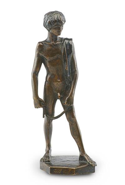 Wilhelm Hunt Diederich, 'David Standing with his Slingshot'