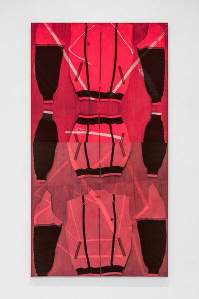 Cheryl Donegan, 'untitled_track_resist_double_different_reds', 2017