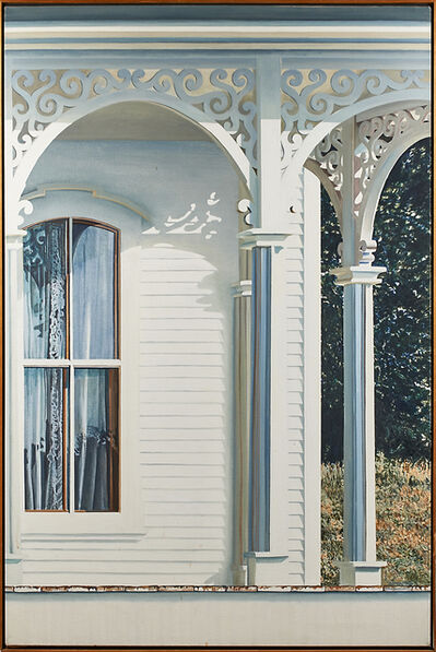 Alice Dalton Brown, 'Curtained Window with Landscape', 1981