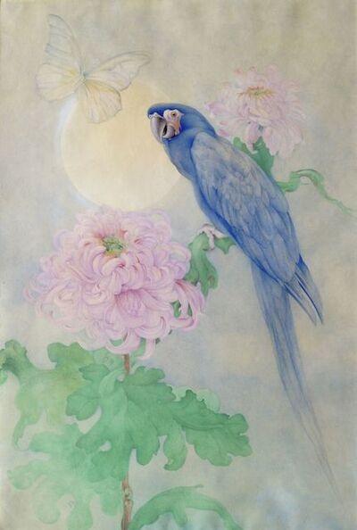 Edward Julius Detmold, 'Blue Macaw perching on a Bough'