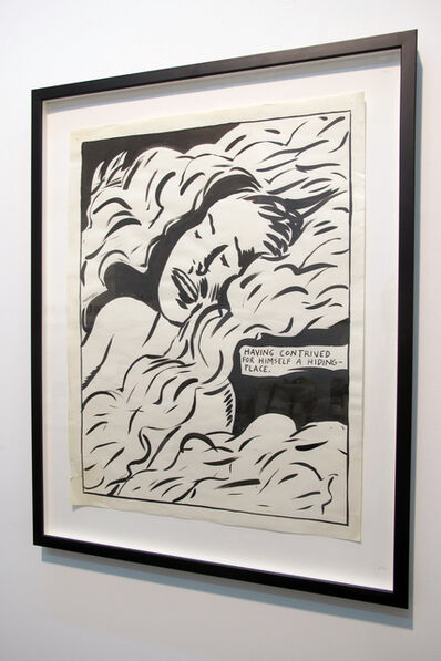 Raymond Pettibon, 'Having contrived for himself a hiding', 1991