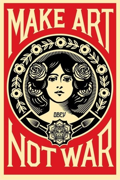 Shepard Fairey, 'Make Art Not War', 2015